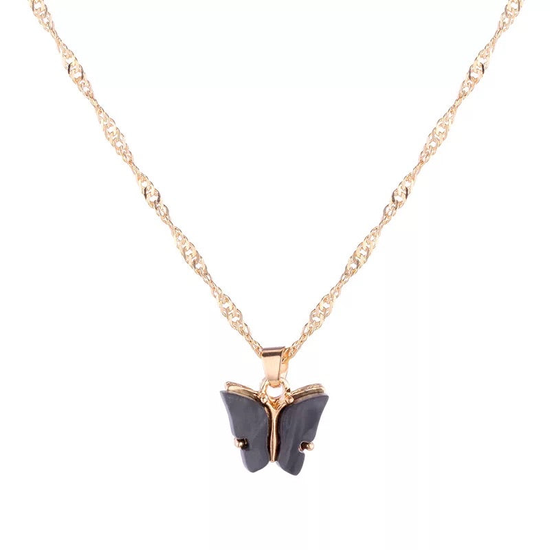 Dark Butterfly Necklace