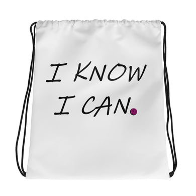 I Know I Can Drawstring bag