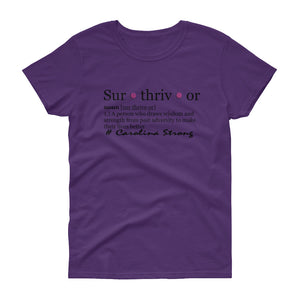 Carolina Surthrivor Women's short sleeve t-shirt