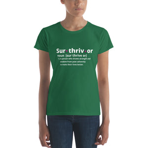 Surthrivor Women's short sleeve t-shirt