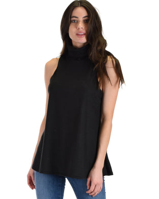 Topanga Sleeveless Turtleneck Top