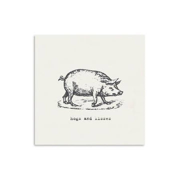 Hogs + Kisses Card
