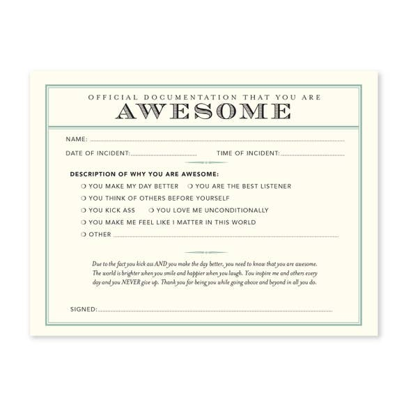 You're Awesom Notecard Set