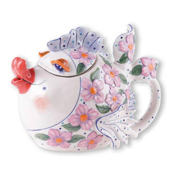 Pink Flower Fish Teapot
