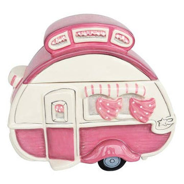 Pink Camper Cookie Jar