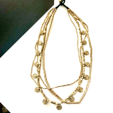 Layer Brass Necklace