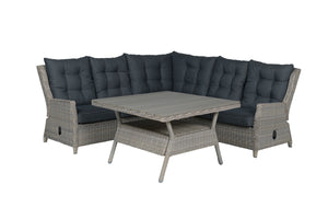 Granada Rattan- Lounge Dining Set- Cloudy Grey or Willow