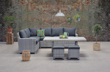 Load image into Gallery viewer, Rochefort Rattan Lounge Dining Set- Cloudy Grey