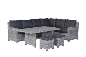 Rochefort Rattan Lounge Dining Set- Cloudy Grey