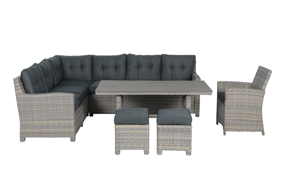 The Rochefort Lounge Dining Set- Willow