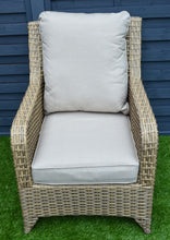 Load image into Gallery viewer, Sahara Rattan- 4 Seat Sofa Set- Cream