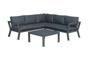 Toledo Aluminium Lounge Set- In Grey