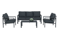 The Mouro Aluminium 4 Piece Coffee Lounge Set