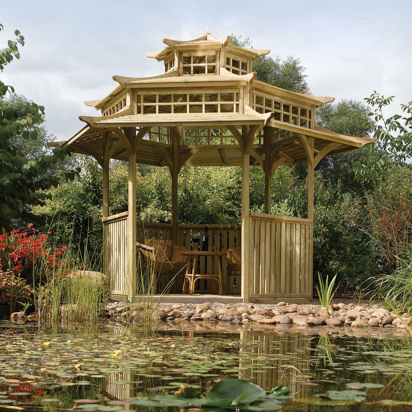 The Atcham Garden Building Pagoda