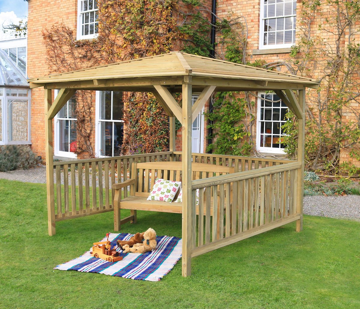 The Staffordshire Wooden Garden Pavilion 3m