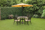 The Lisburn 4 Seat Outdoor Aluminium Garden Dining Set