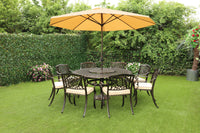 The Lisburn 8 Seat Outdoor Aluminium Garden Dining Set