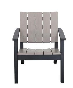 Denver Polypropylene- Bistro Set - Wood Grain Effect