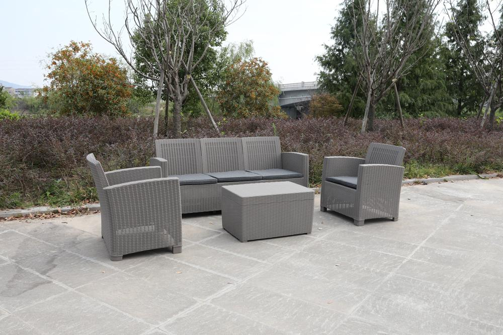 Denver Polypropylene- Coffee Lounging Set- Grey