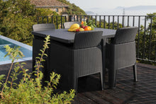 Load image into Gallery viewer, Denver Polypropylene- 4 Seater Deluxe Cube Set- Black