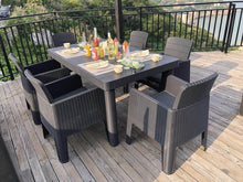 Load image into Gallery viewer, Denver Polypropylene-  6 Seater Deluxe Dining Set- Black