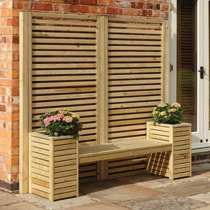 Wooden Planters Seat Set