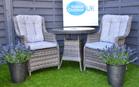 The Hatherton 2 Seat Outdoor Rattan Garden Bistro Set