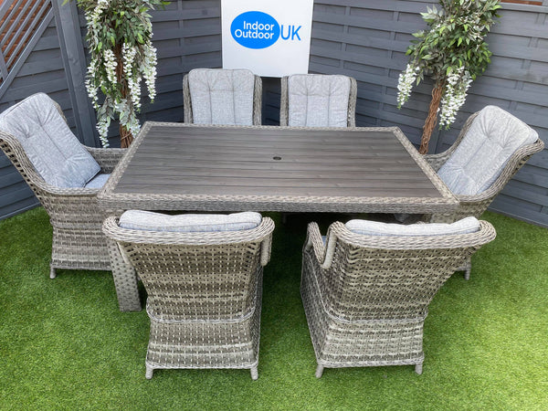 The Hatherton Rectangle Table Rattan Dining Set