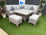 The Sahara rattan corner dining sofa set