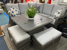 Load image into Gallery viewer, Paris Rattan- Corner Sofa- Adjustable Poly Wood Top- Grey