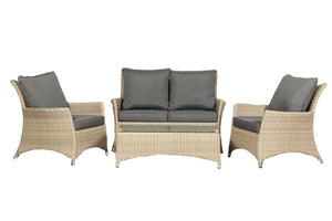 Mirage Rattan- Deluxe Coffee Set- Grey or Cream