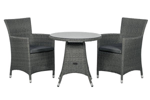Mirage Rattan- Bistro Set- Grey