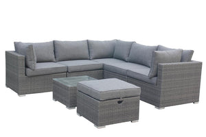 Mirage Rattan- Corner- L Shape Set- Grey