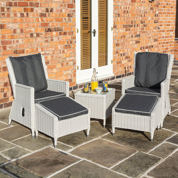 The Burley Rattan Lounger Set