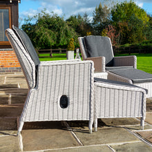 Load image into Gallery viewer, Burley Rattan- Lounge Set- Reclining Chairs- Charcoal Grey