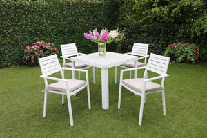 The Marseille 4 Seat Outdoor Aluminum Garden Set