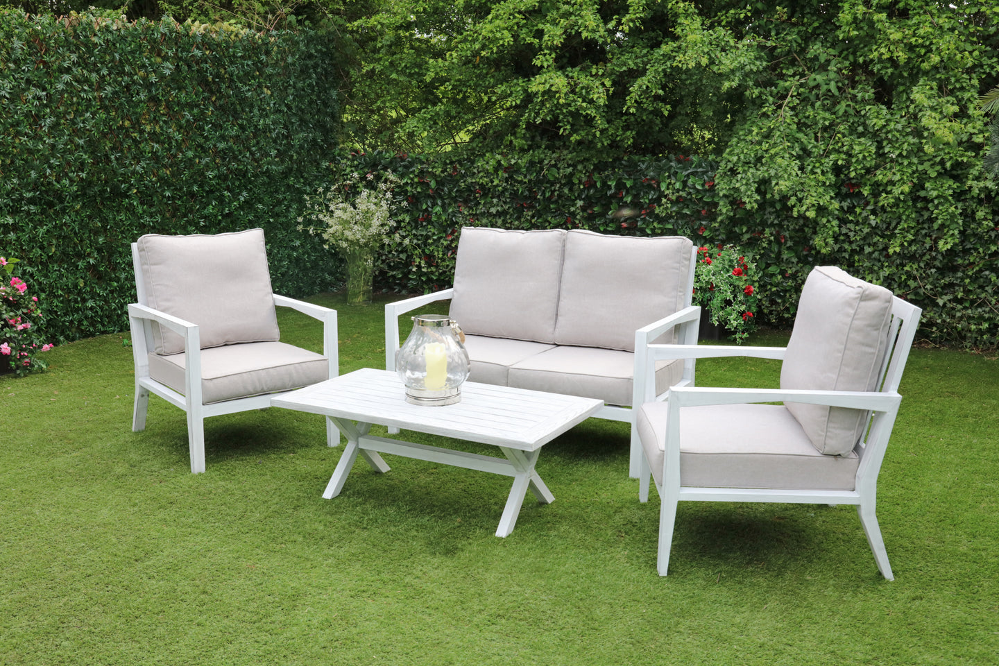The Marseille Outdoor Aluminium Coffee Garden Set