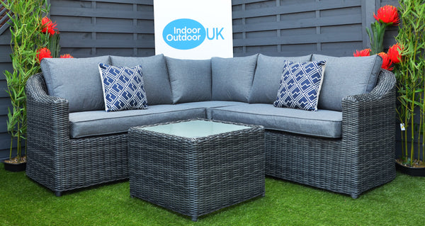 The Burley Outdoor Garden Corner Rattan Sofa Set