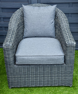 Burley Rattan- Two Seater Sofa Set- Grey