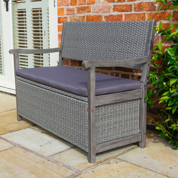 The Burley Rattan Storage Bench