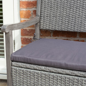 Burley Rattan- Storage Bench- Grey