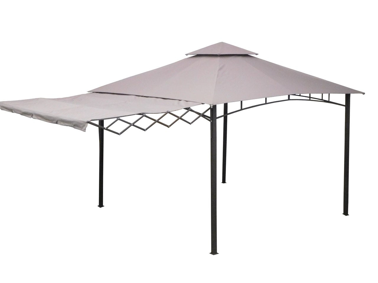 Gazebo 3.3m x 3.3m with Retractable Awning