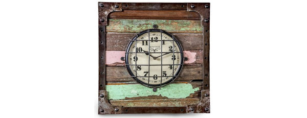 Reclaimed Wooden Clock