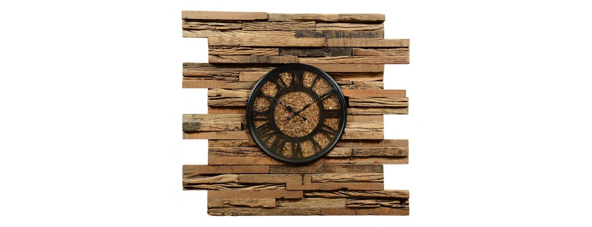 Sillipar Wooden Clock with Wooden Dial