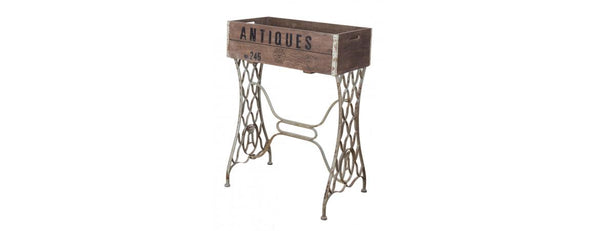 Iron and Wood Antiques Planter