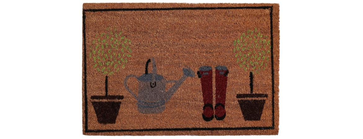 Baskets and Shoes Door Mat