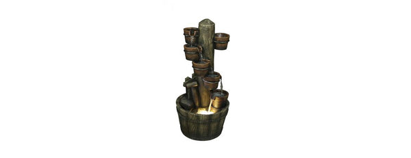 Plant Pot & Barrell Water Fall