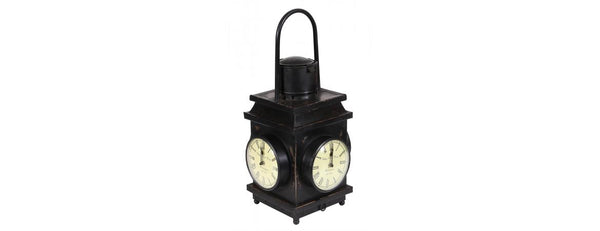 Railway Lamp With Clock