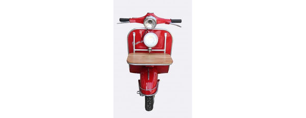 Red Vespa Wall Mounted Bed Side Table