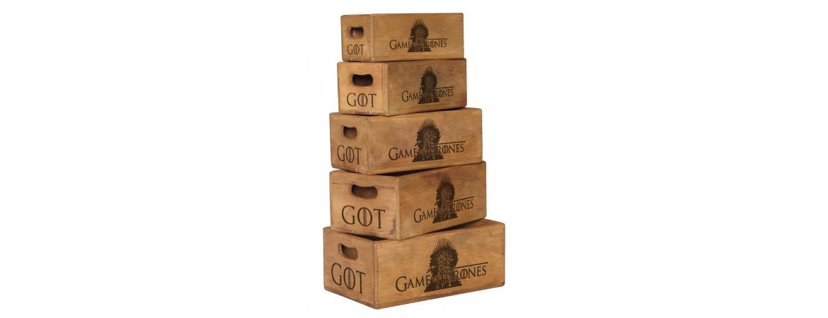 Set of 5 Nesting Boxes Game Of Thrones - Iron Throne